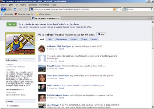 Tic 39 s blog by rafael gonz lez otoya contra el retraso de - Trabajar en facebook espana ...